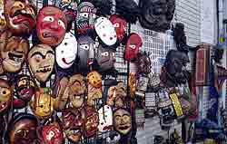 Traditional Korean Masks at a shop in Insadong, Seoul.