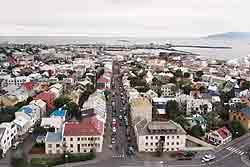 A view of Reykjavik.