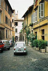 The Vicolo del Bologna, in Trastevere.