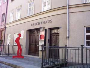 The Brechthaus can be found like most buildings in the Lech District by walking along a series of bridges over the canals directing the Lech River. photo: Melissa Santley.