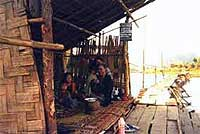 The toll bridge over the Mekong.
