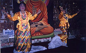 Pwe performers, who combine dance, storytelling, and poetry, usually with live music. Performances may recount Buddhist legends or be more light-hearted, even comedic. The artists entertain at important Burmese social functions and are regularly accessible at various venues in Mandalay. photos by Terry Braverman.