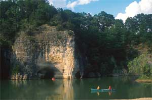 The majestic limestone cliffs of the Buffalo River.