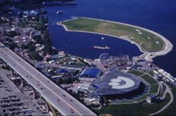 The scene of Summerfest, the biggest outdoor concert series in the world.