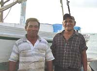 Fishermen in Belize.
