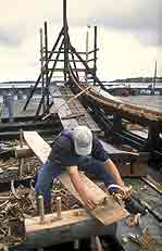 A magnificent Viking ship is being reconstructed at the Roskilde Viking Ship Museum - photo courtesy of the museum