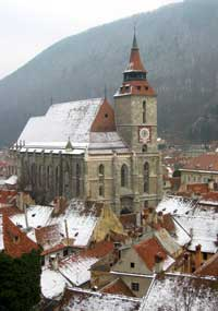 The Black Church is Brasov's most well known landmark.
