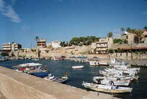 The harbor at Byblos