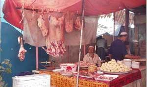 A meat vendor
