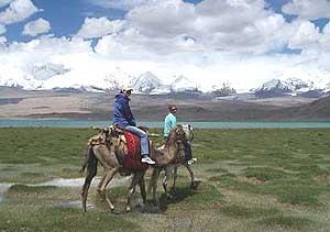 Camel and horseback riding at Karakul