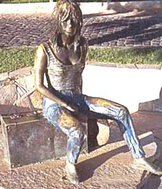 The community ereted a bronze statue of Brigitte Bardot, who helped to popularize the area as a destination. Photo courtesy of BuziosNews.com