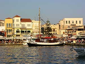 The harbor in Chania
