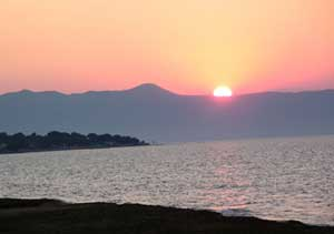 Sunset in Platanias