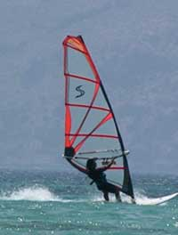 Windsurfing at Elafonissi
