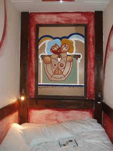 The Hotel Ararat features 'funky artwork' in each room.