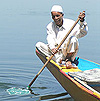 A boatman in Kashmir
