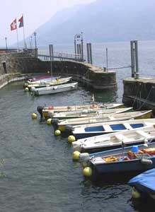 Boats on Lake Maggiore - photo by Catherine Richards Golini
