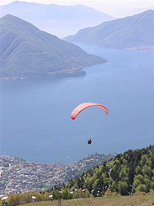 Paragliding over Lake Maggiore - Photos by Cahterine Richards Golini