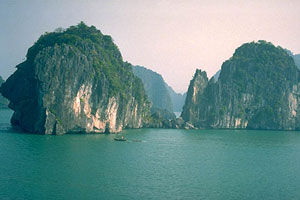 Tower karsts in Halong Bay - photo courtesy of Geoimages.Berkeley.edu