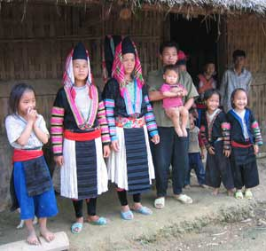 Members of the Blue H'mong Tribe