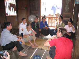 A discussion with members of the Black Thai Tribe