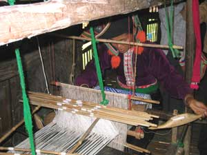 Weaving in a Black Thai village