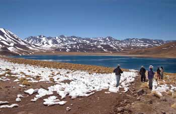 Miscanti and Miniques lagoons, in San Pedro de Atacama. photos by Paul Shoul