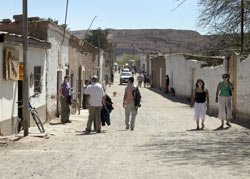 Caricoles Street, downtown San Pedro de Atacama. photo by Paul Shoul.