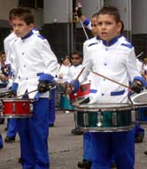 Drummer boys in Costa Rica's Independence Day Parade