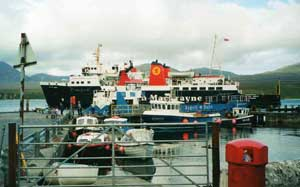 The Cal/Mac ferry at Port Askaig, Isle of Islay