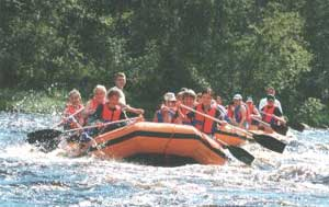 Rafting is only one of many outdoor activities available in Karelia