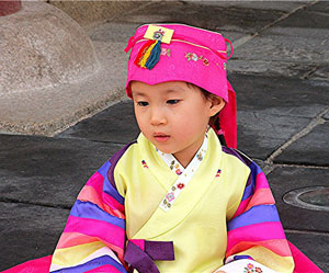 Another child dressed for the festival.