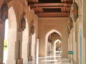 The cloister of the Grand Mosque