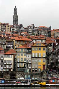 A view of the historic city of Porto as seen across the River Douro.