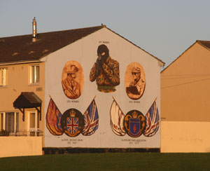 One of the murals in Belfast - photo by Denise Dube