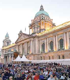 A concert at Belfast's city hall.