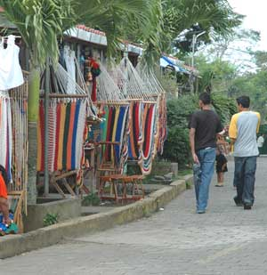 Hammocks are a popular purchase in the market in Masaya.