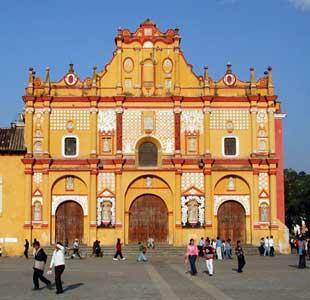 The cathedral at San Cristobal de las Casas - photo by Chris Bracken