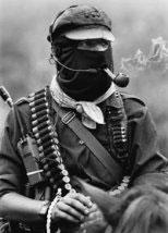 Zapatista leader Subcommandante Marcos - photo courtesy of zapatistas.org