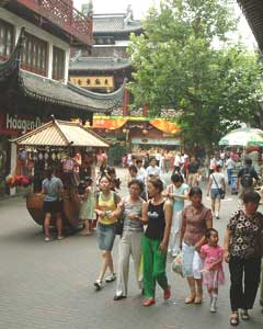 The old section of Shanghai, known as Puxi