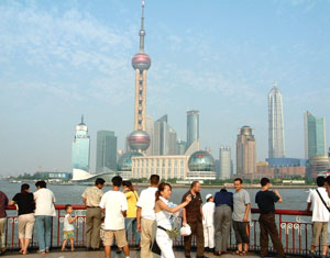 Another view of the Pudong skyline