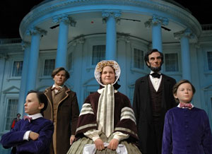 Models of the Lincoln family at the Abraham Lincoln Museum - photo courtesy of aia.org