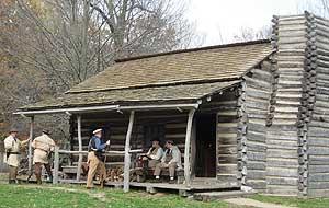 Reenactors in New Salem - photo by Dominic Degrazier