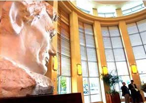 A sculpture in the Lincoln museum - photo courtesy of aia.org