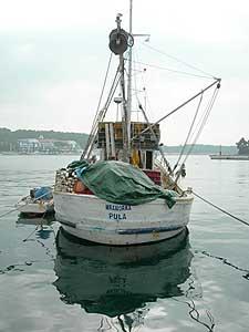 A fishing boat in Porec