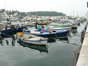 The harbor at Porec