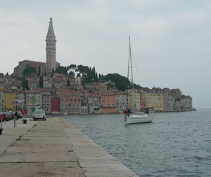 The seaside town of Opatija or Abbzia, depending on your point of view