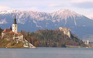 The Church of the Assumption crowns the only island in the country in Lake Bled. Photo by Christine H. O'Toole