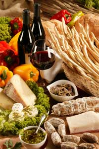 Turin's Barolo wines are usually served with red meat or aged cheeses.