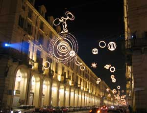 Turin's Outdoor Museum of Light - photos by Jim Sajo